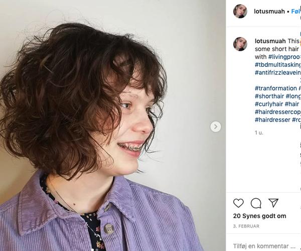krøller kort hår